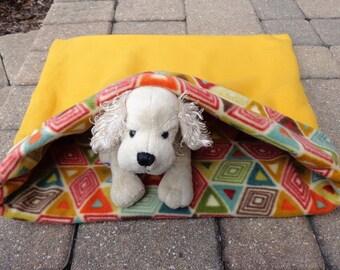 Snuggle Sack Dog, Pet Burrow Bed, Pet Sleeping Bag, Cat Sleep Sack, Pet Travel Blanket