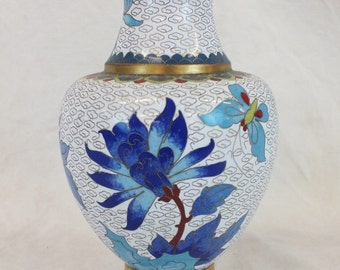 Chinese contemporary cloisonné vase