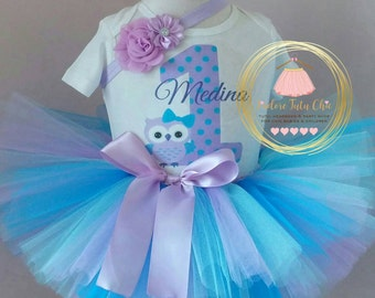 Owl birthday outfit - 1st birthday outfit - owl birthday tutu outfit - owl birthday party - owl birthday theme