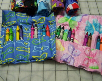 12 crayon rolls, 8 crayons each included