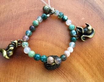 Gemstone Charm bracelet
