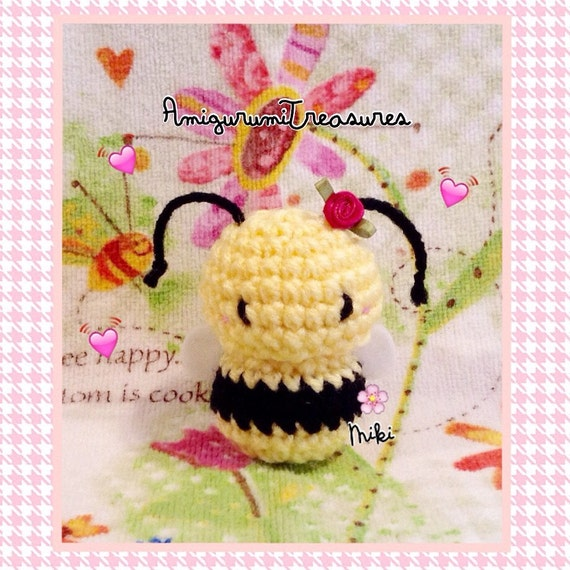 Easy Amigurumi Cat Pattern : Amigurumi bee kawaii plush bee cute bee toy bee stuffed