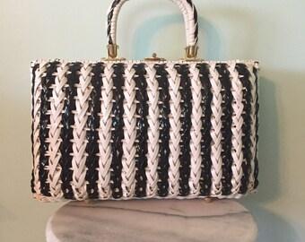 Vintage Black and White Handbag/Purse