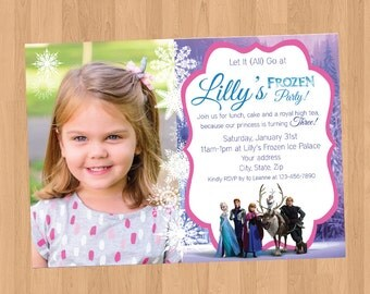 Frozen Birthday With Picture Invitation Printable