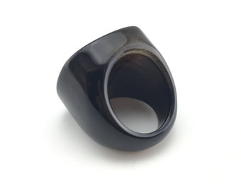 Black onyx ring, Black agate ring, agate jewelry, Druzy agate ring, gift for her, unique agate, statement ring, Chunky ring, chunky jewelry