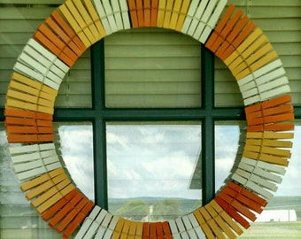 Candy Corn Clothespin Wreath