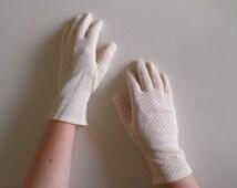 gloves beige vintage