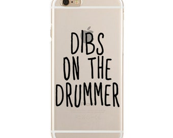 Dibs On The Drummer - Professional Fangirl - Slim & Transparent case for iPhone - by HeartOnMyFingers - SLIMCASE-059