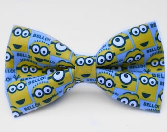 Minion Bow Tie Bow Tie for Men | For Him | Bowtie | Self Tie | Dog Bow Tie | Mens Bow | Gift for Him | Gift for Teenager