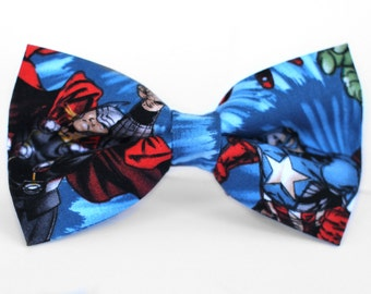 Thor Bow Tie | Marvel Bow Tie | For Him | Bowtie | Dog Bow Tie | Mens Bow Tie | Boys Bow Tie | Superhero Bow Tie | Wedding Bow Men