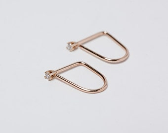 Mini U-Shaped Hoop Earrings 315.00