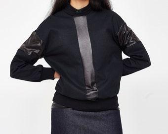 black organic sweater / black sweatshirt /  cotton  jumper / black sweater / organic cotton sweatshirt