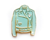 Mint Leather Jacket Enamel Pin