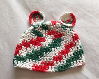 Baby Hat with Ears, Christmas Baby Hat