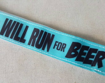 Will run for beer no slip headband, non slip headband, beer, Running headband, fitness Headband, runners, Accessories, Swanky Bands