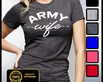 Army Wife Shirt, Wifey T-shirt, Husband and Wife, His and Hers, Army Wifey Tshirt, Gifts for Wife, Bridal Showers, Bridesmaid, Mimosas