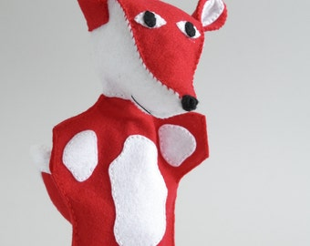 Fox hand puppet - fox wedding, fox the little prince, fox teddy, fox plush, fox doll -