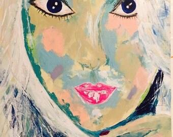 Acrylic Abstract Portrait