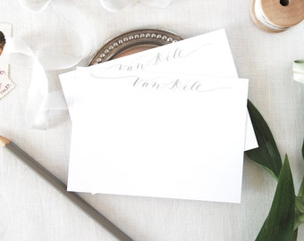 Custom Calligraphy Name Notecards/ Thank You Cards/ Stationery/Personalized
