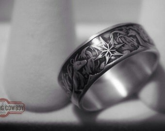 Australian Silver 50 Cent coin ring