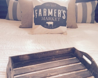 Farmers Market|Distressed Pillow Cover