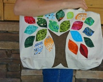 Tree Patch Tote Bag