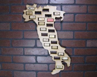 Italy Wine Cork Map Display Wino Gift