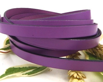 Flat leather purple high quality 10mm by 20cm