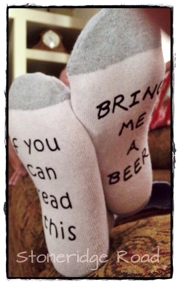 Beer socks men 39 s funny socks in white gray or black if for Take craft beer back