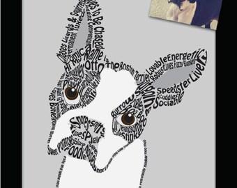 Customized Pet Word Portraits