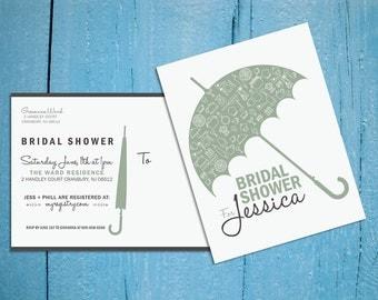 Printable-Customizable Bridal Shower Postcard Invite