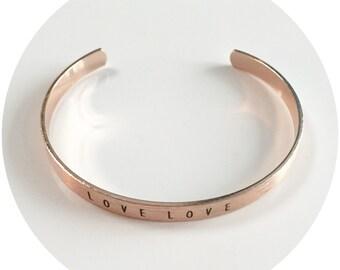 LOVE LOVE Etched Bracelet