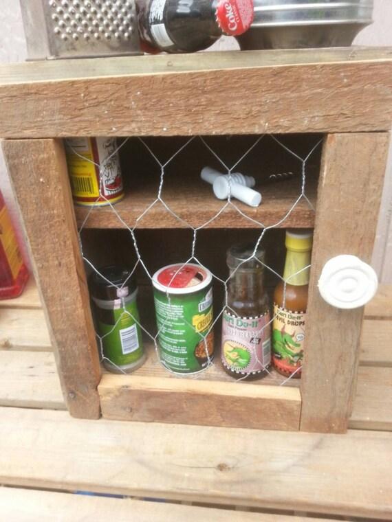 Primitive Barn Wood Spice Bathroom Storage By