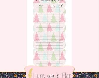 A5 Christmas Gift List