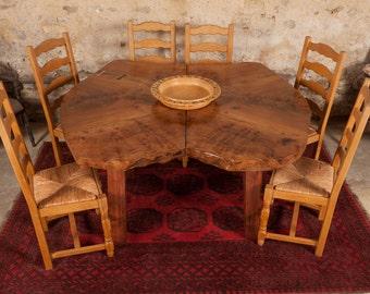 Burr Elm dining Table.