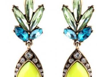 Yellow Dangle Earring