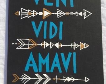 Veni Vidi Amavi painting