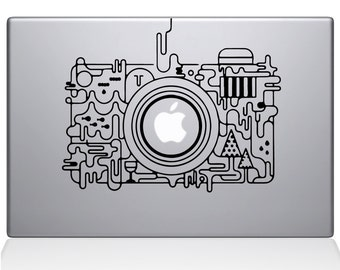 Abstract Camera apple macbook laptop decal sticker
