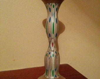 A handmade colour pencil bud vase.