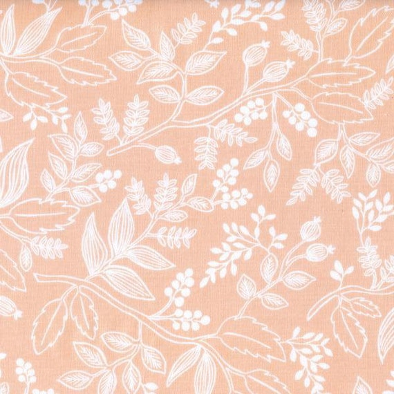 Panel Crib Skirt >> Rifle Paper Co. Queen Anne in Peach >> MADE-to-ORDER peach crib skirt, blush floral crib skirt, floral baby bedding