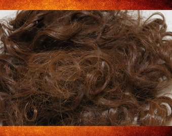 Doll Hair - Bag of Curly Red Auburn Hair for Dolls, Hairpieces, and Crafts. #DOLL-110
