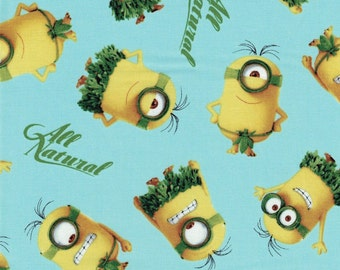 Minions Fabric- All Natural- Quilting Treasures- 100% Cotton Fabric