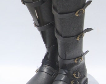 Sword fighting Boots, Medieval Long Boots, Renaissance Boots, halloween Costume Boots, Reenactment Boots, LARP Boots, Historical SCA Boots