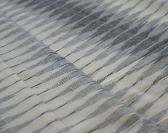 Ikat, Hand Woven, Home Spun, Indian Fabric, Fabric by the yard, Upholstery Fabric, White and Grey, Fabric, IKAT FABRIC