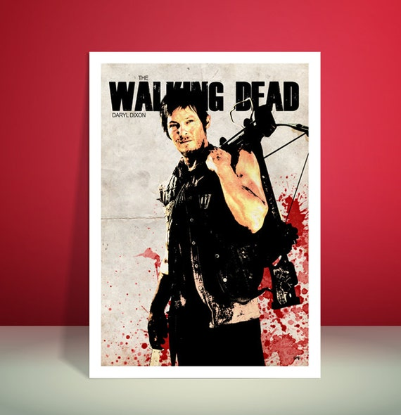 The Walking Dead // Daryl Dixon // Unique Art Print