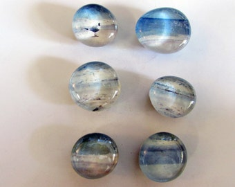 Glass marble magnets with beach photos