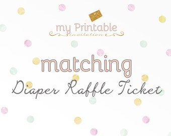 Matching Diaper Raffle for your Invite