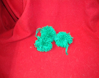Green Christmas wool Pompom