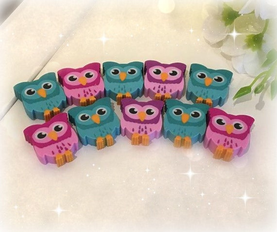 Collectible adorable Owl Erasers, cute, stationary/ personal planner Kikki K, Websters, filofax, Colour Crush, personal planner