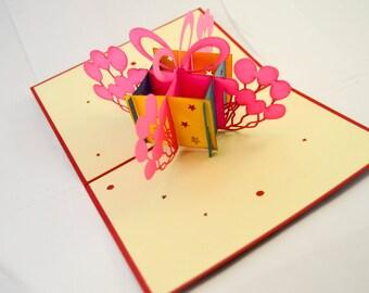 Birthday Card - Happy Birthday Card - Pop Up Card - Greeting Card - Birthday Card - Card for a Birthday - Greetings